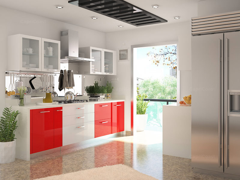 Kitchen Color Combinations Red And White HomeLane Blog Adorable Interior Design Kitchen Colors