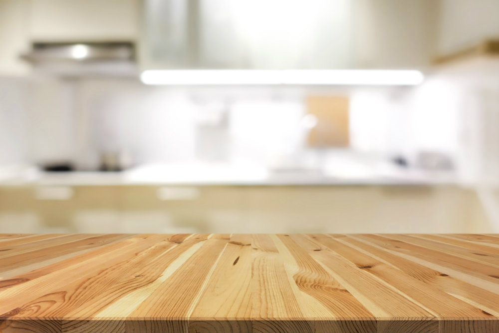 wood kitchen counter-top