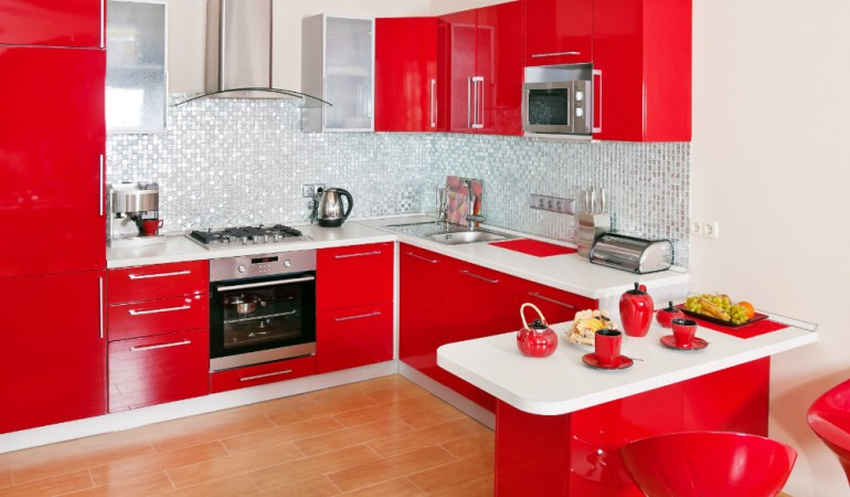 HomeLane Look Book: Vibrant Red Kitchens