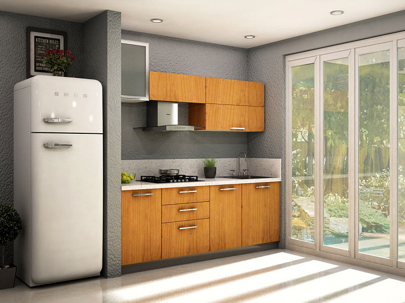 Top 10 kitchen color trends for you homelane blog for Straight kitchen ideas