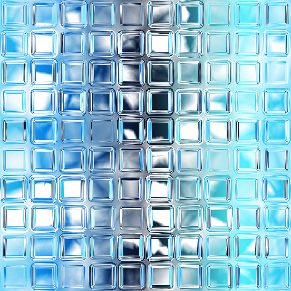 Glass wall tiles for kitchen