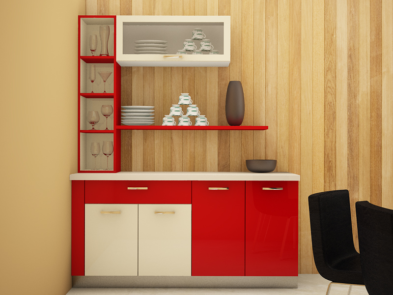 5 classy crockery cabinet designs for Modern cabinet designs dining room