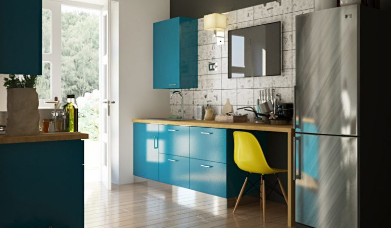 Modular Kitchen Designs: 4 Ways to Go Glossy