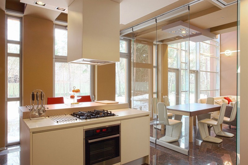 Glass Doors Make For An Excellent Addition To Tiny Kitchens, Since They  Give The Illusion Of The Cooking Space Extending Into The Dining Or Living  Area.