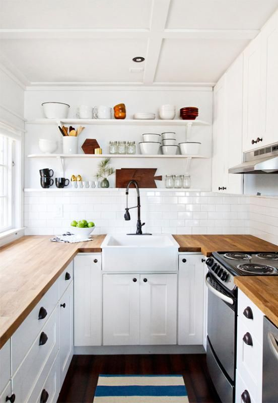 Nice Small White Kitchen Ideas Part - 10: Thereu0027s Really Nothing That Can Go Wrong With White. In Small Kitchens,  White Cabinets Dramatically Brighten And Expand The Space.