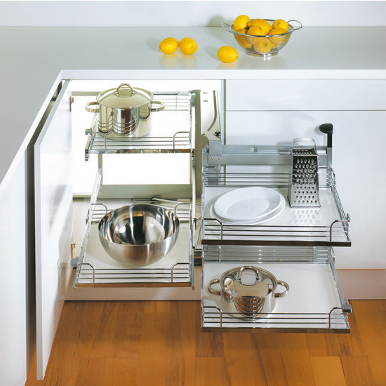 Modular Kitchen Solutions: 3 Space Saving Corner Units For Modular Kitchen Design